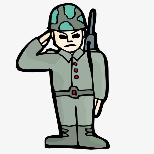 军人画像手绘儿童