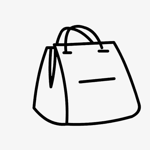 购物袋风格包包简笔画