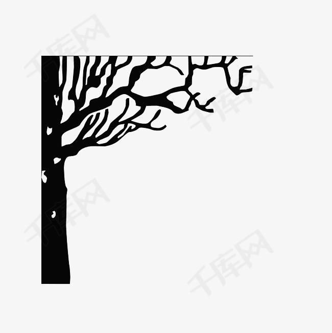 手绘枯树枝素材图片免费下载 高清png 千库网 图片编号9081823