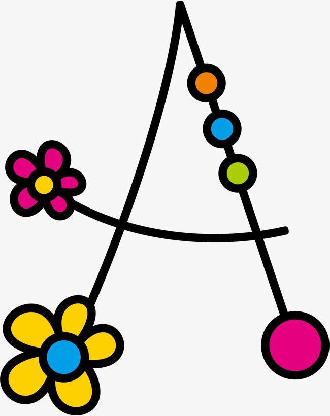 花朵藤蔓a字母图片