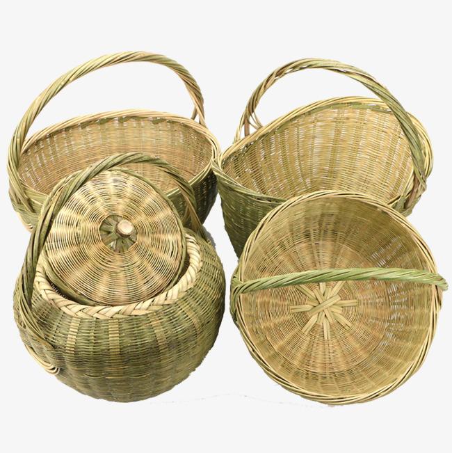 竹编菜篮子图片