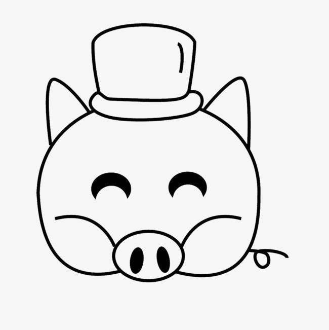 猪头猪简笔画