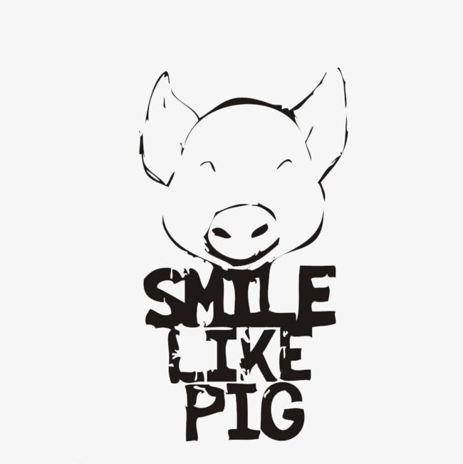 图片 > 【png】 字母猪头猪简笔画  分类:产品实物 类目:其他 格式