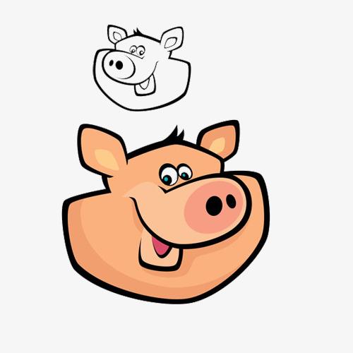 厕拍猪头系列八度_黄色猪头猪简笔画