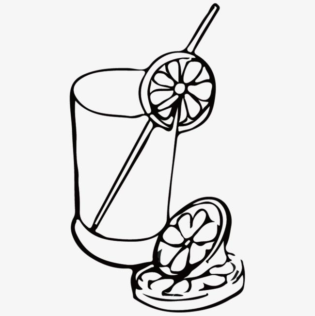 手绘柠檬果汁