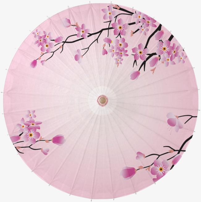 桃花雨伞 油纸伞 中式伞 中国风 古风 古风伞             此素材是