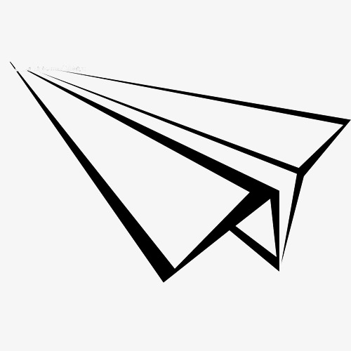 纸飞机黑白手绘