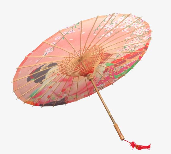 国画人物图案油纸伞