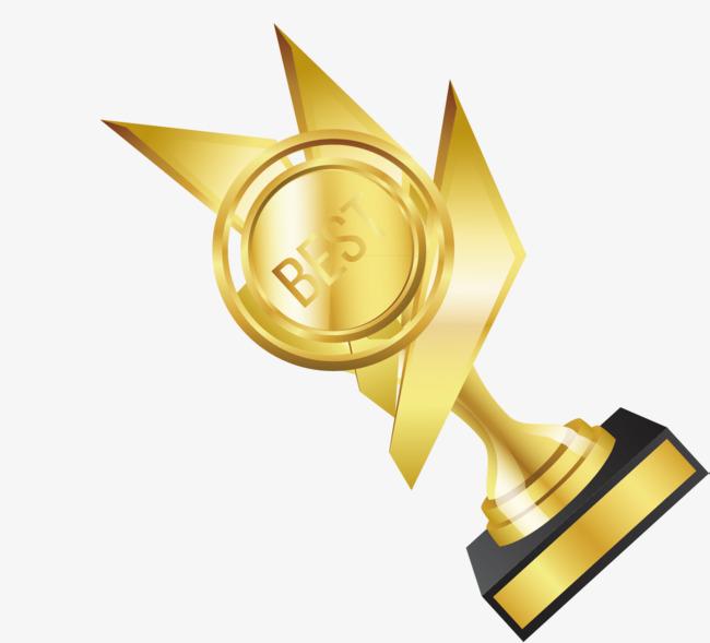第一奖杯装饰设计矢量图片