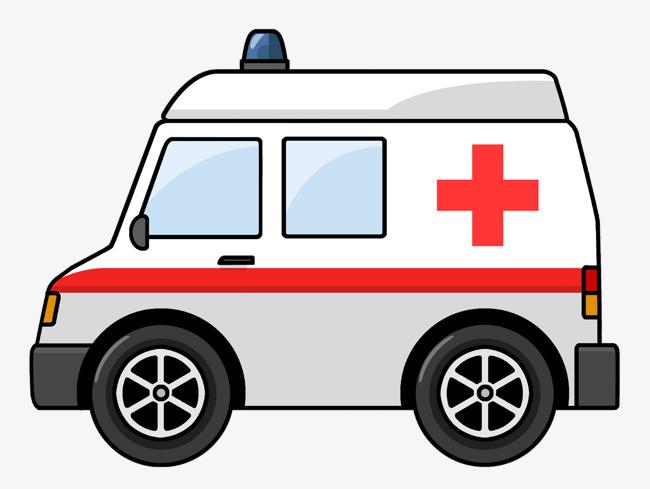 卡通救护车图片
