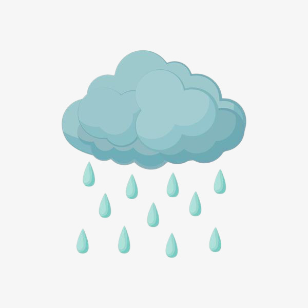 手绘蓝色下雨乌云素材图片免费下载 高清png 千库网 图片编号9105009
