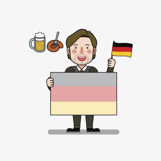 手绘国旗背景