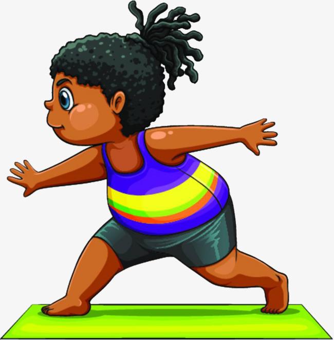 卡通人物大肚腩女孩运动图片