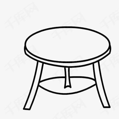 圆桌子简笔画