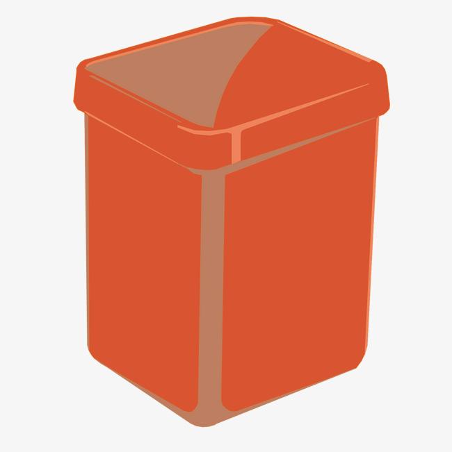 图片 > 【png】 橘色卡通垃圾桶  分类:手绘动漫 类目:其他 格式:png