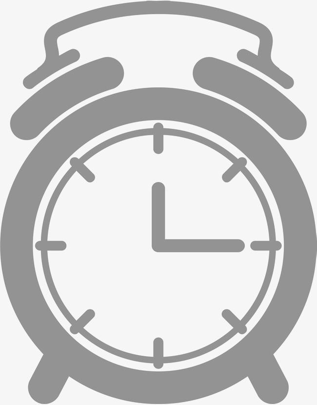 90设计提供高清png手绘动漫素材免费下载,本次手绘灰色闹钟作品为设计