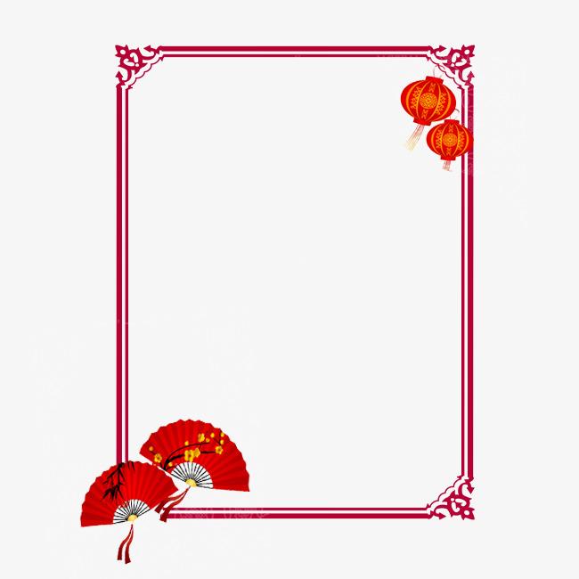 中国风扇子边框