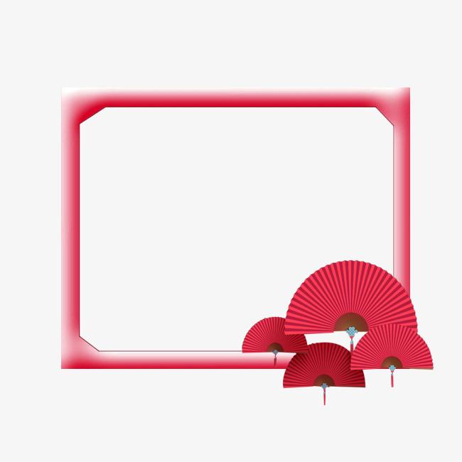 立体扇子边框
