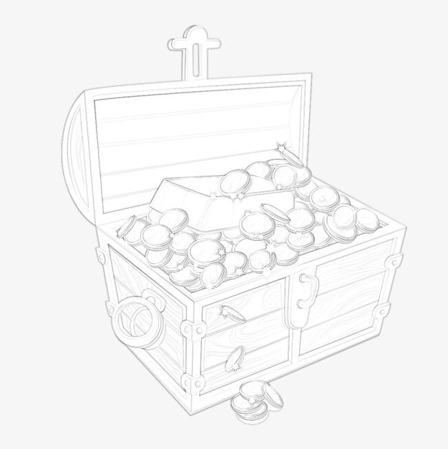 寶箱 鉛筆畫鉛筆紋理 卡通 手繪 簡筆畫寶箱 鉛筆畫 鉛筆紋理 卡通