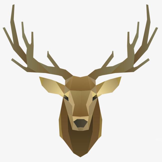 棕色 一头 麋鹿 头像 动物 鹿角 卡通 手绘png免费下载 手机端:麋鹿