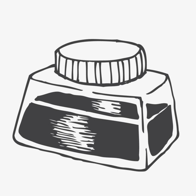 卡通手绘墨水瓶