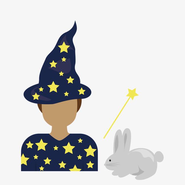 蓝色魔法帽子_png素材免费下载_ 1500*1500像素(编号