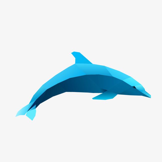 手绘卡通海豚