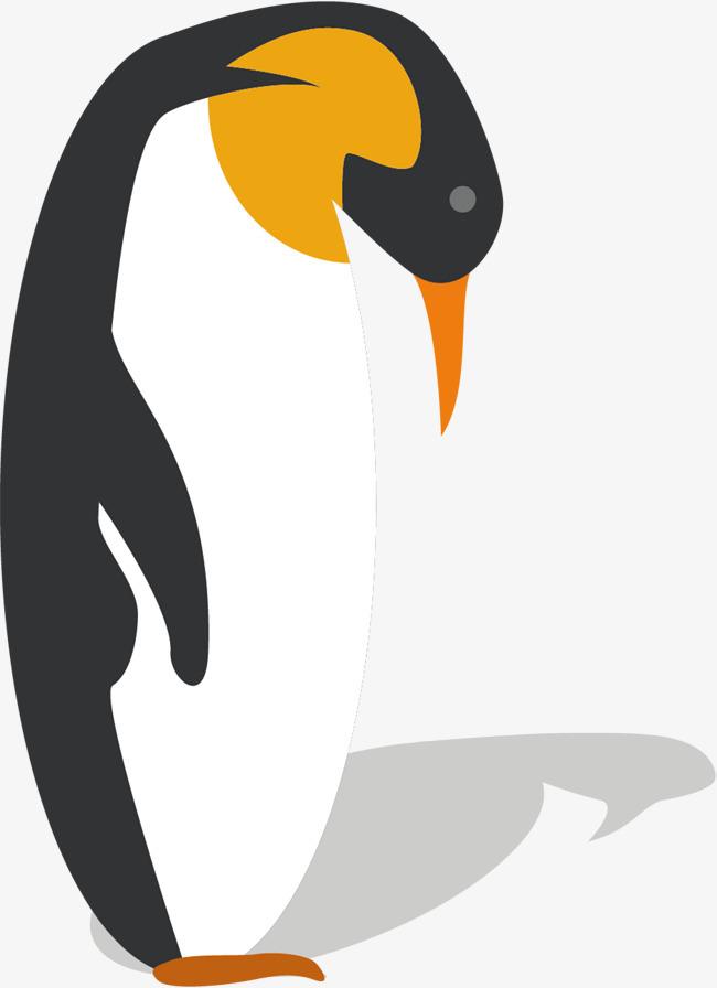 手绘黑白企鹅