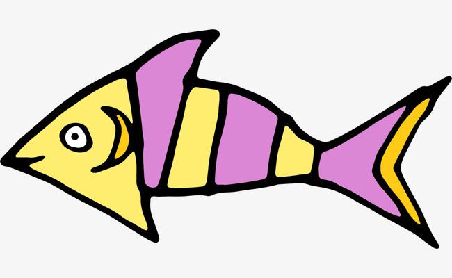 手绘可爱小鱼