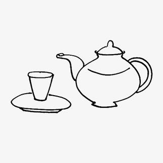 茶壶简笔画素材 免费下载 茶壶简笔画图片大全png 90设计网
