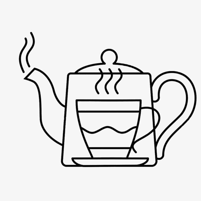 茶杯热水壶简笔画