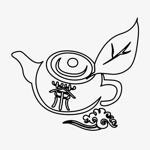 煮茶的茶壶简笔画