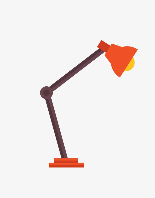 矢量卡通简洁扁平化台灯png图片