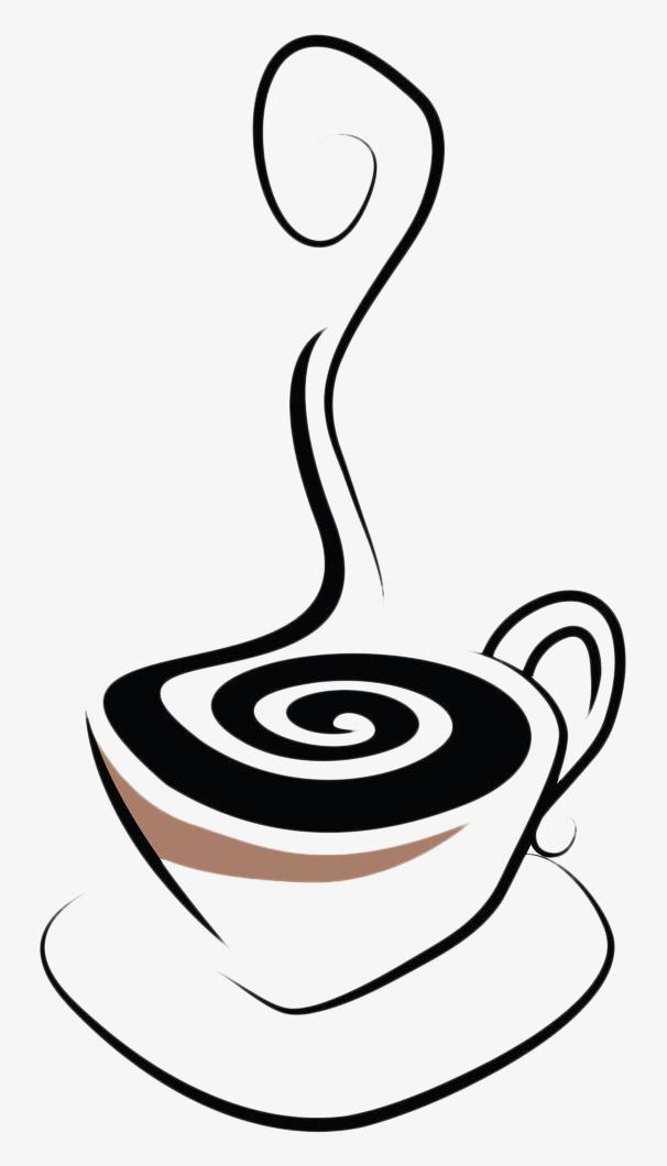 手绘黑色热茶