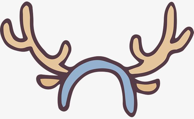 可爱卡通手绘鹿角