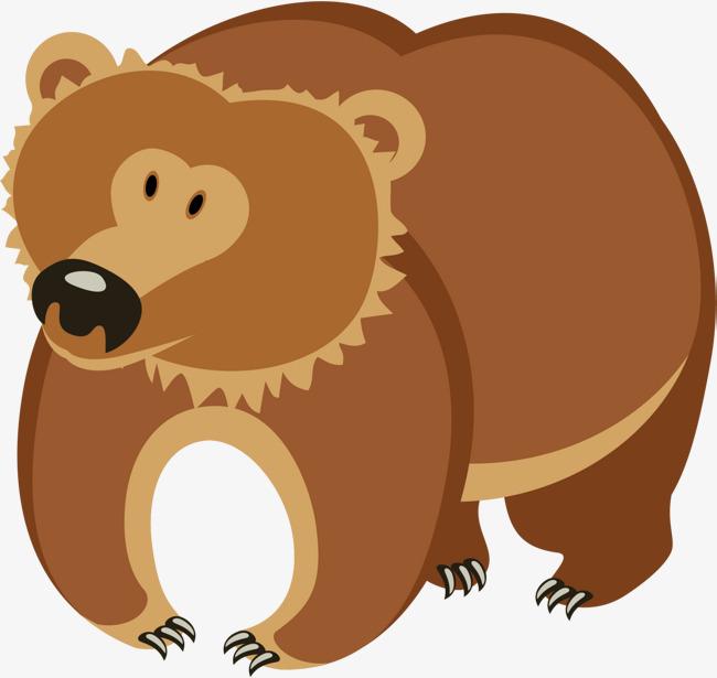 卡通可爱棕熊图片