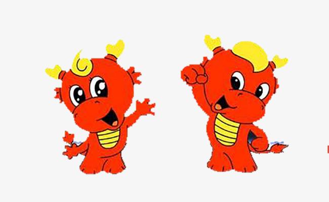 两个卡通小龙人图片