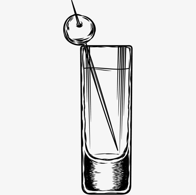 素描玻璃杯图片
