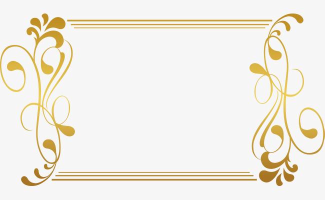 金色藤蔓边框