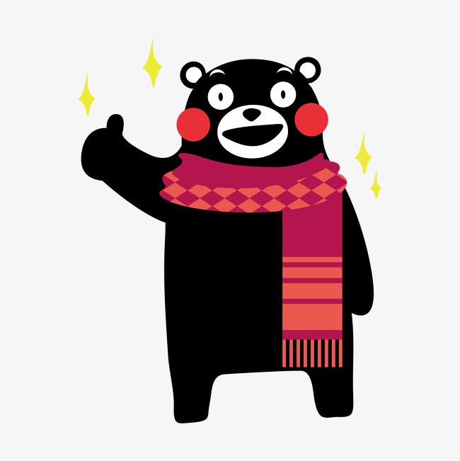 点赞手绘熊本设计元素png素材下载_高清图片png格式图片