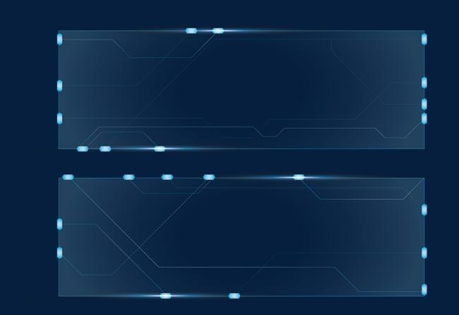科技透明边框素材图片
