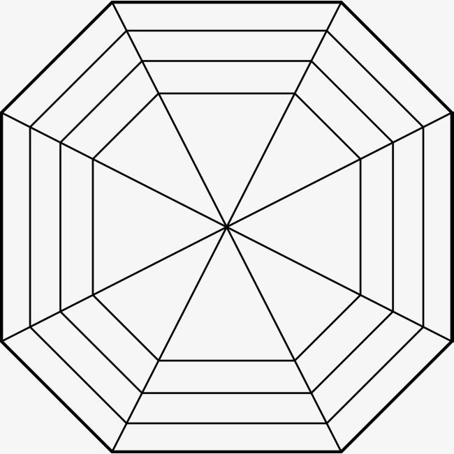 钻石线条手绘图