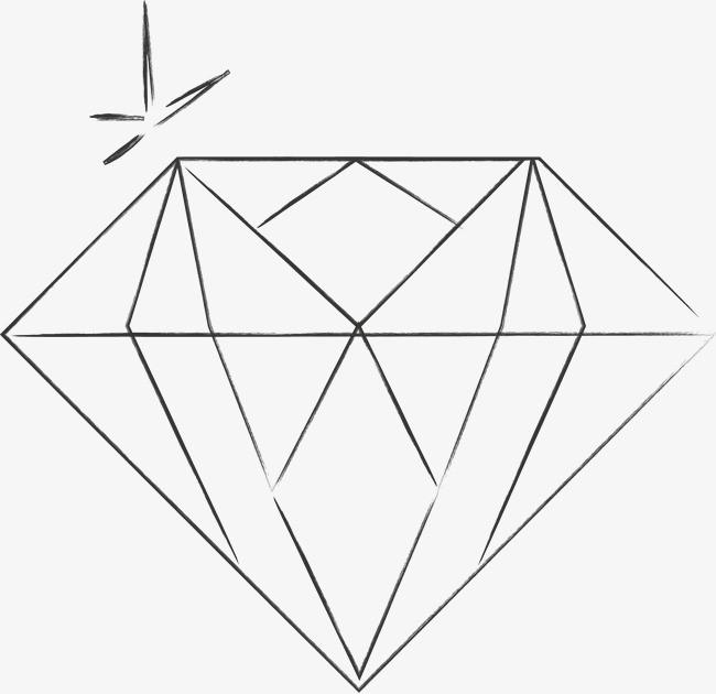 手绘钻石矢量图