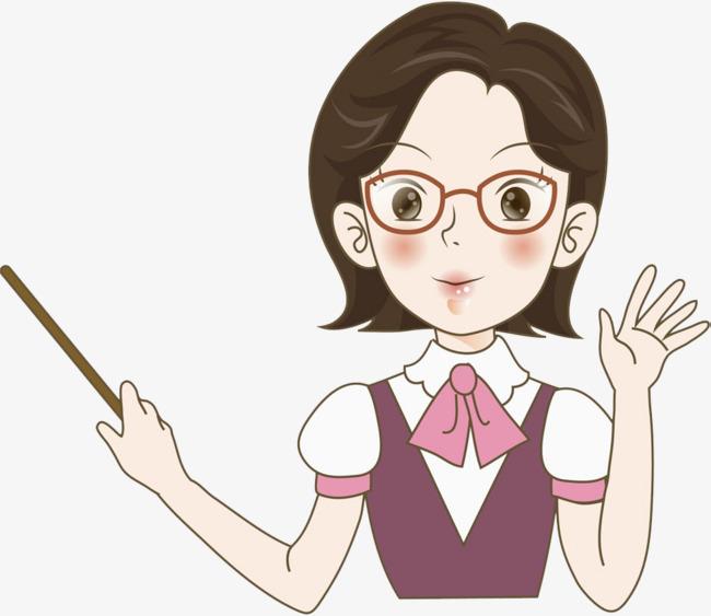 戴眼镜的老师图片