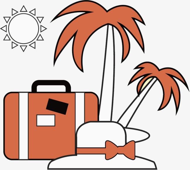 水彩行李箱