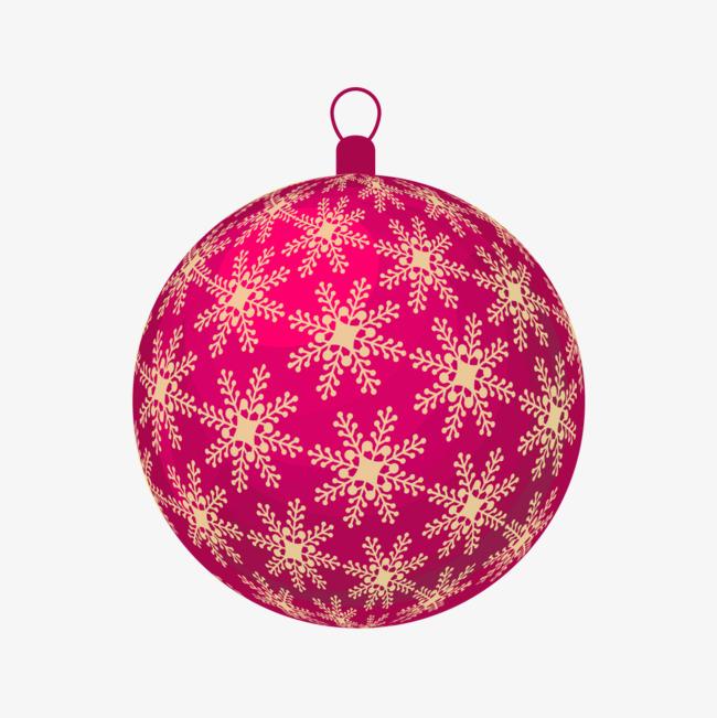 手绘红色圣诞球