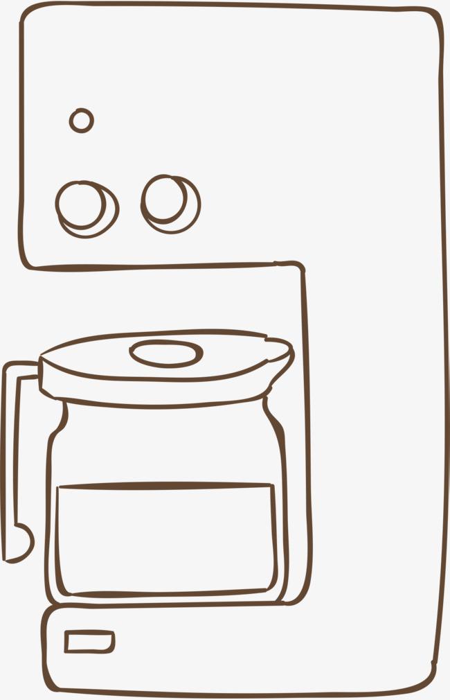 机器 简笔画 奶茶 珍珠奶茶 奶茶简笔画 饮品 手绘png免费下载