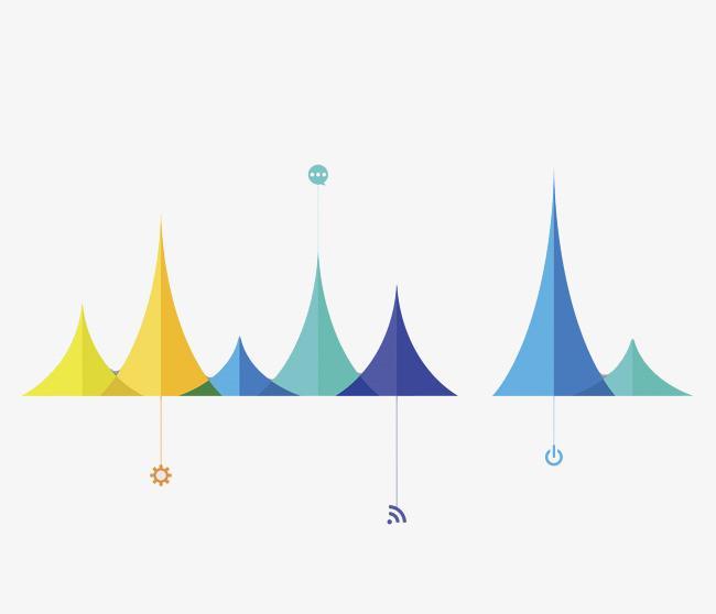 12:15 90设计提供高清png手绘动漫素材免费下载,本次彩色山峰作品为设