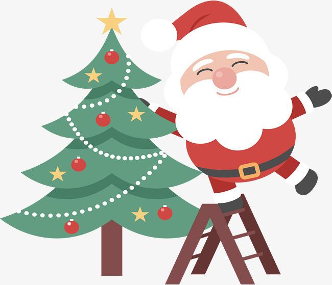 圣诞树圣诞老人图片