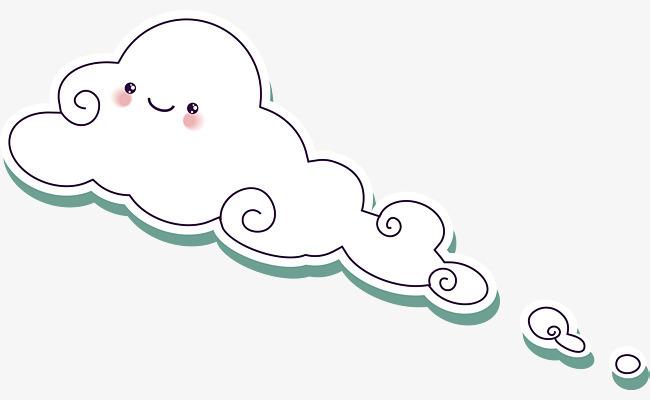 手绘精美可爱云朵